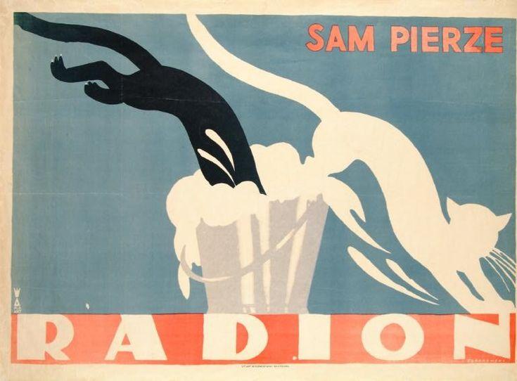Tadeusz Gronowski, Radion sam pierze, 1926, litografia brw., 81 x 113,5