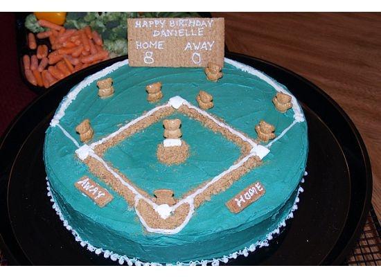 Baseball cake @Michelle Rogala