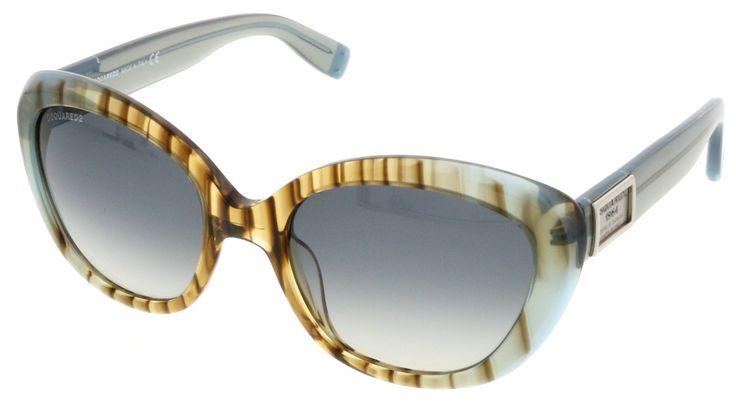 Dsquared DQ0146/S 86B Blue Bamboo Cateye Sunglasses