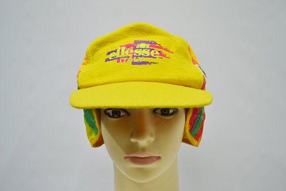 e87d58eb656 Ellesse Cap Ellesse Hat Ellesse Winter Cap Vintage Ellesse Italy Multicolor Hat  Ellesse Vintage Ski Wear Made in Japan