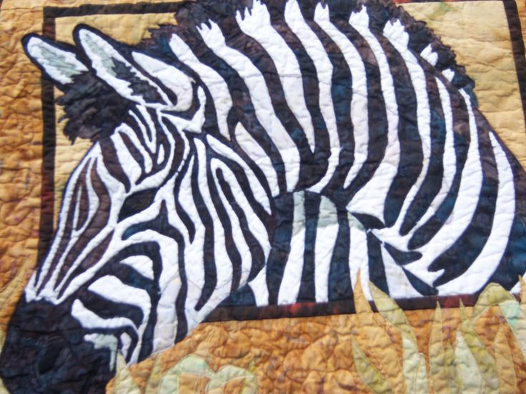Zoey  the Zebra comes alive in this quilted wall hanging!  100% batik fabric. by CreativeCreationsDeb on Etsy