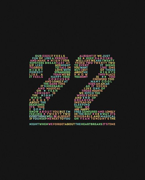22 by Taylor Swift.  The lyrics make up the number 22!! :)