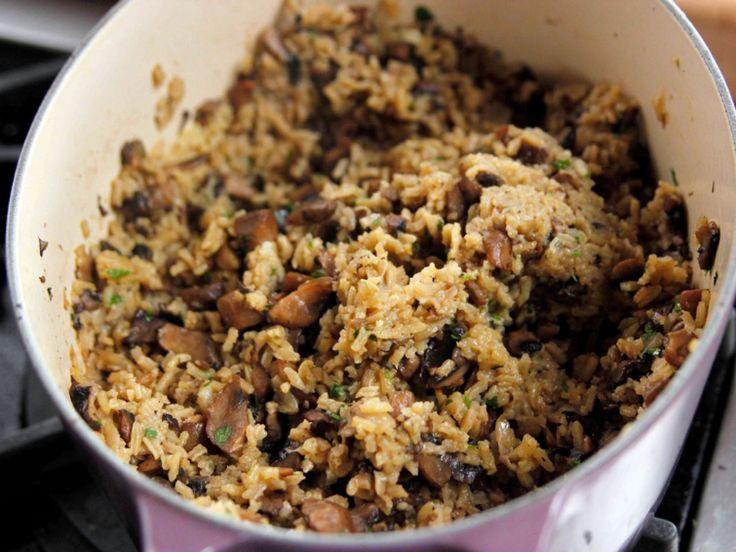 Mushroom Pilaf recipe from Ree Drummond via Food Network