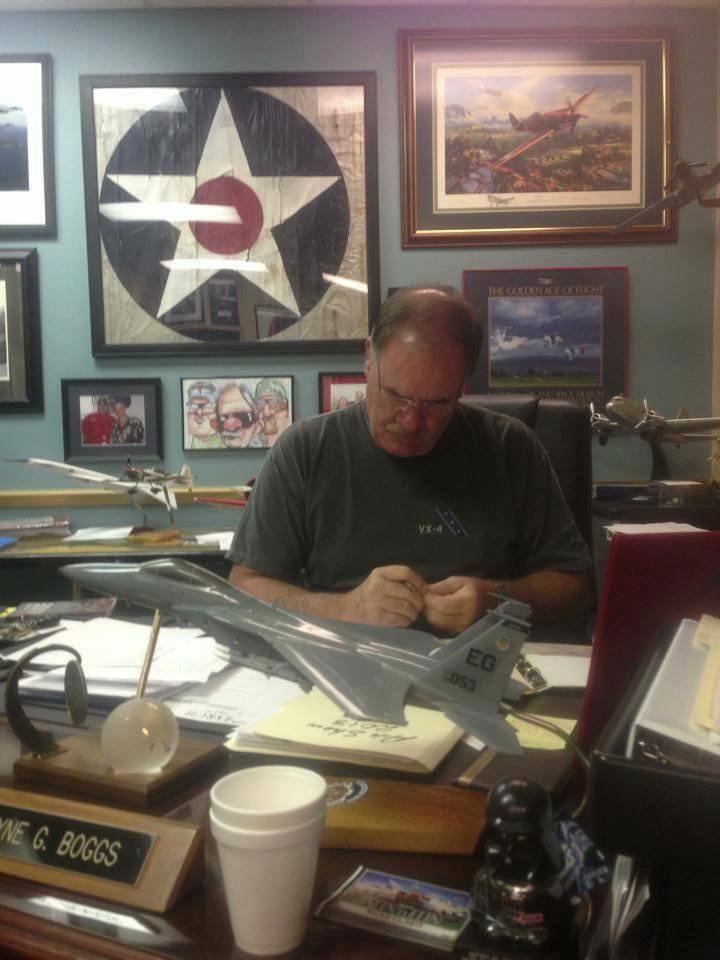 "The Amazing Wayne ""AIRBOSS"" Boggs sporting our VX-4 Bunny shirt!  http://sierrahotel.net/VX-4-Evaluators-F-4J-Phantom-II-p45.html"