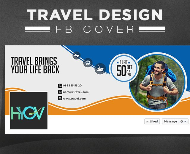 Check our #Travel #Cover #design #template to choose one that suits your business promotion. Buy today and save your time on creating  #Covers.  #travel #banner #design #vaccation #travel #agency #psd #template #facebook #cover #facebookcover #twittercover #hyov