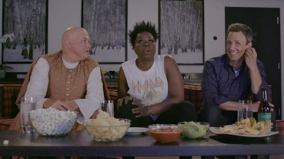 Leslie Jones and Seth Meyers Watch Game of Thrones With Surprise Guest Lord Varys