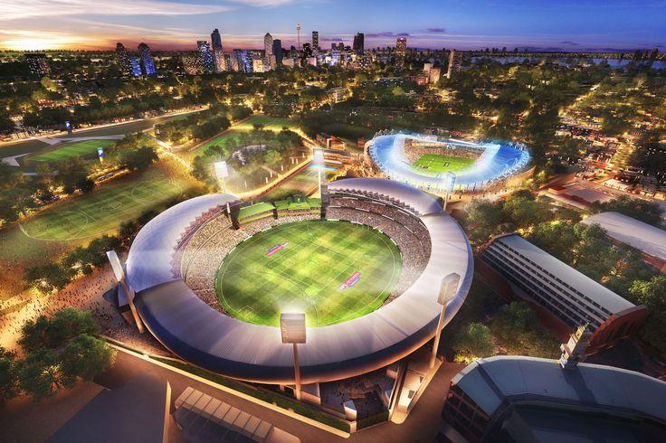 Sydney Cricket Ground, Sydney. 3D visualisation by Scharp #scharp #3dvisualisation #3dvisualization #stadium