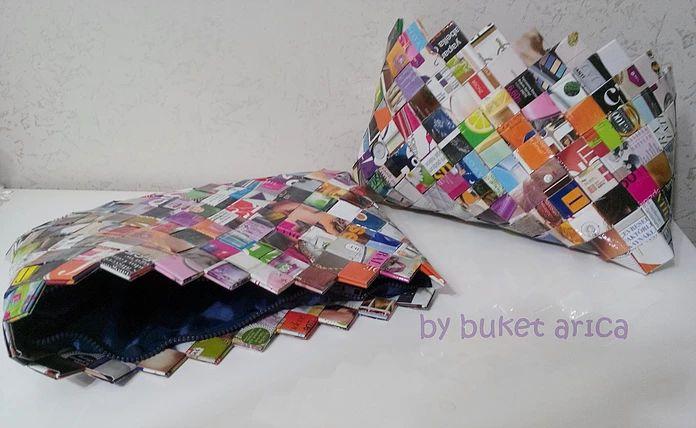 Geridönüşüm hayat verir.. Kağıtlardan hazırlanmış, kişisel ve sanatsal tasarım aksesuarlar..