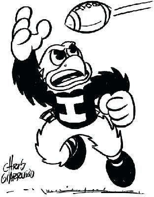 Iowa Hawkeye Football Coloring Page For Kids Kids Club Iowa