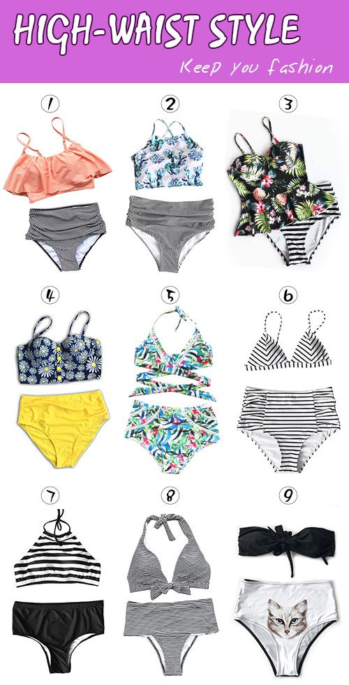 Live life on the beach~ Easy Return + Refund! High quality & Better service! Get ready for summer beach days with our high-waisted swimwear~ Give you stylish look at Cupshe.com