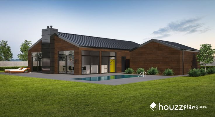 Contiki - Modern Contemporary House Plan .... Browse all house plans here: www.houzzplans.co.nz