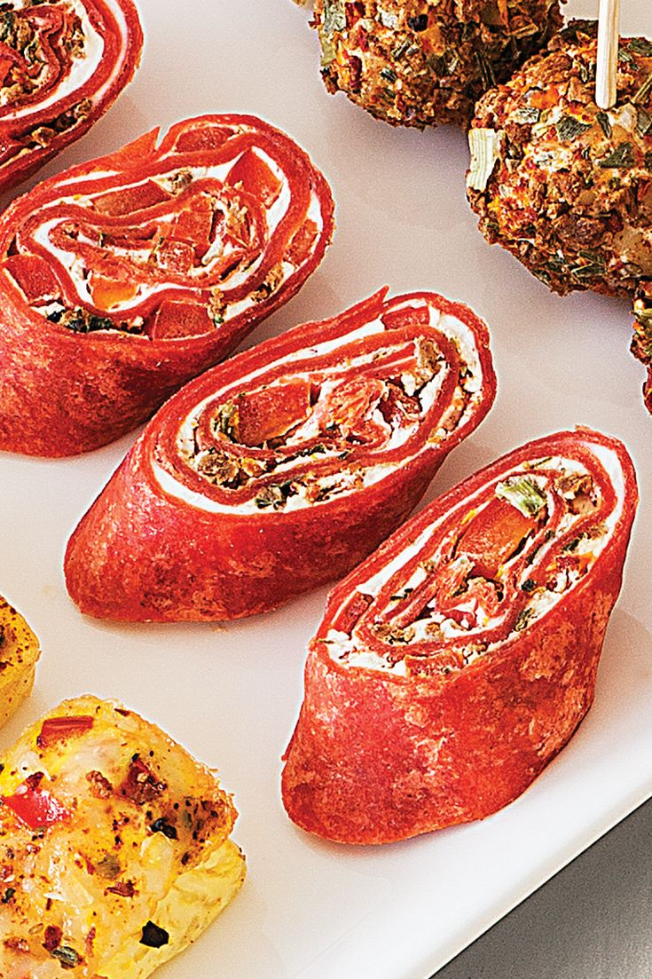 #Epicure BLT Tortilla Pinwheels #vegetarian #meatlessmonday