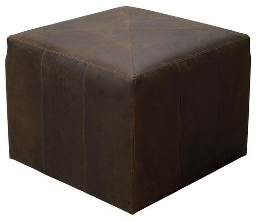 Jamie Young Co. Vintage Leather Ottoman - traditional - ottomans and cubes - Candelabra