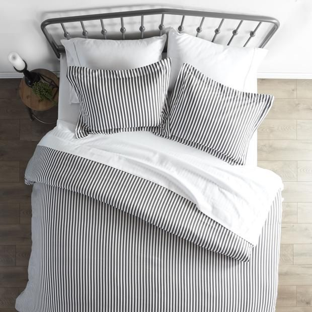 Rugged Stripes Patterned 3 Piece Duvet Cover Set Duvet Cover Sets Duvet Cover Pattern Luxury Duvet Covers