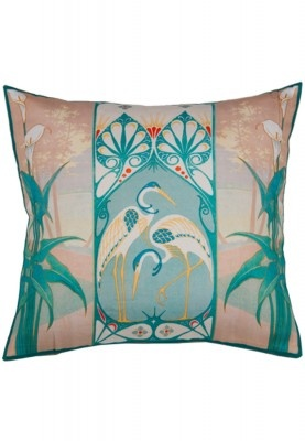 Add a touch of greenery in your living room interiors with this multicoloured cushion cover from Truhome's Aquagreen collection. The cushion cover has a unique print which enhances the brightness of your living space.