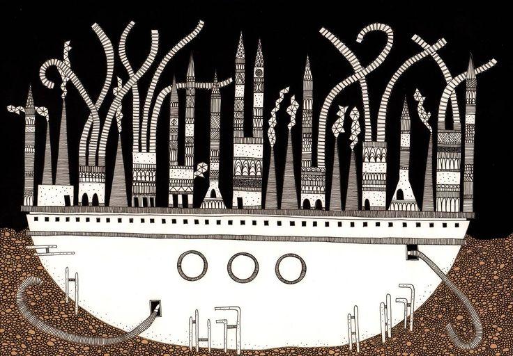 Arquitecta peruana ilustra las 'Ciudades Invisibles' de Italo Calvino,Despina…