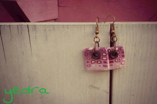 Pendientes rosados