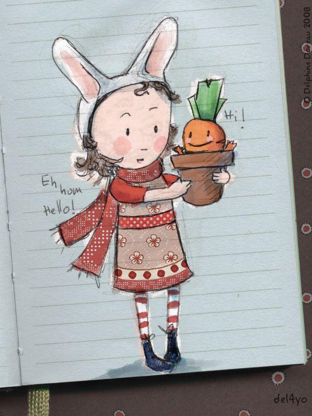 Le lapin dans la lune - Albums - illustration2008