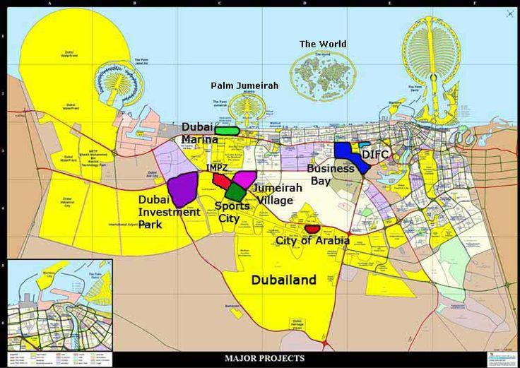 Dubai map   Dubai  Pinterest  Dubai map and Dubai