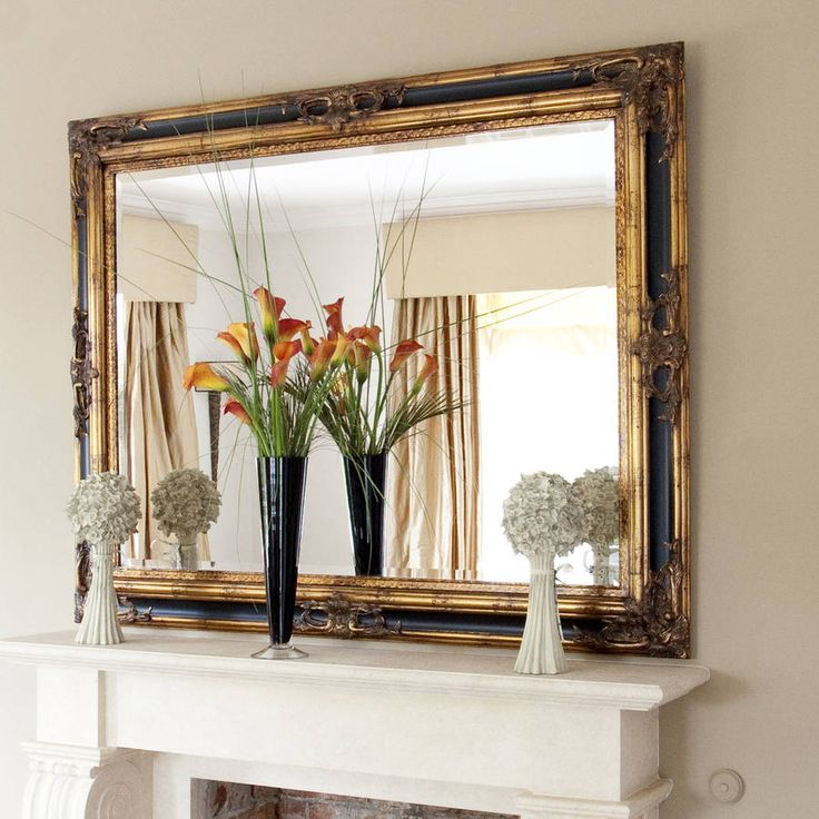 classic ornate black and gold mirror by decorative mirrors online | notonthehighstreet.com