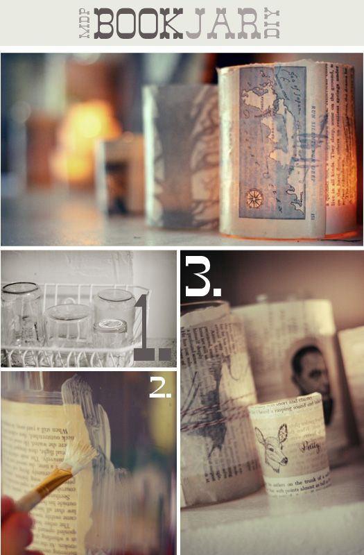 Book Candle Jars