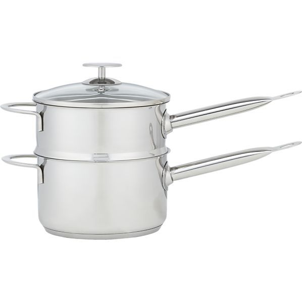 Stainless 2 qt. Double Boiler by Berndes for Crate and Barrel  | Crate and Barrel