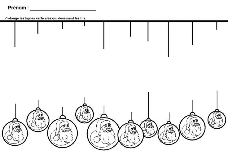 Graphisme de Noël en maternelle La Ligne