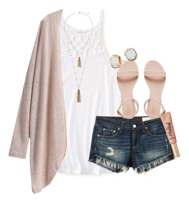 """""""yet another summery outfit"""" by thefashionbyem ❤ liked on Polyvore featuring Aéropostale, Eloquii, rag & bone/JEAN, Kendra Scott, women's clothing, women, female, woman, misses and juniors"""