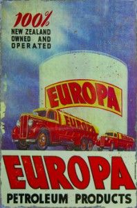 Europa Petroleum Products Tin Sign $50