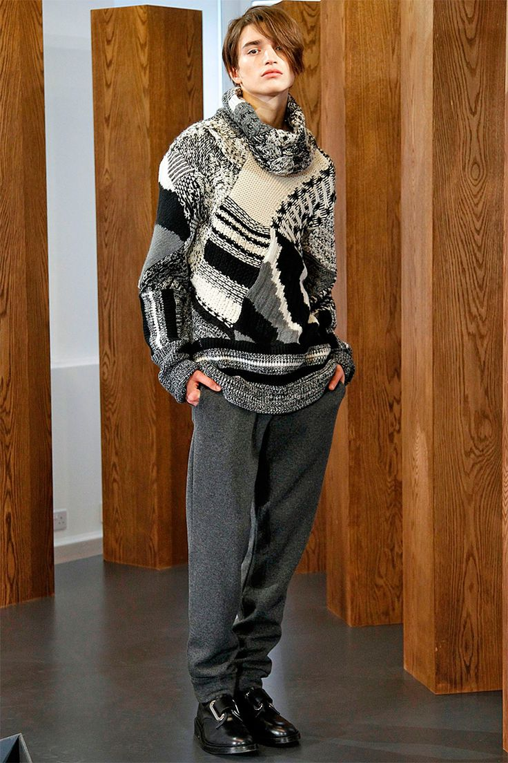 [Nicole Farhi]: Print-blocking. Or in a different view, knit-blocking.