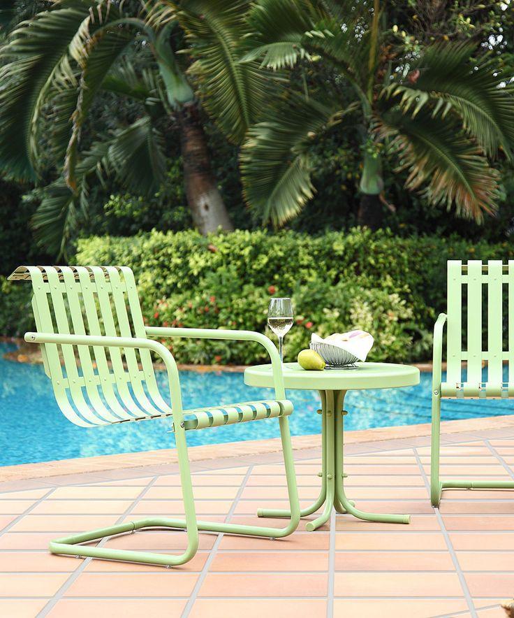 Loving this Green Outdoor Furniture Set on #zulily! #zulilyfinds