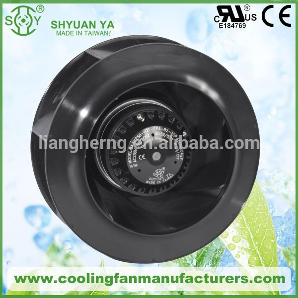 220v AC Backward Curved High Pressure Plastic Small Centrifugal Fan