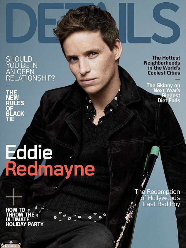 Final cover: Eddie Redmayne graced the cover of Details magazine in its final December issue