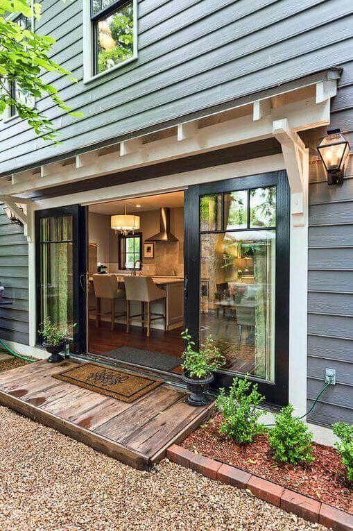 Best 25 sliding patio doors ideas on pinterest sliding for Double patio doors exterior