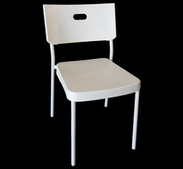 Cadeira 149   Padrão (025585) R$355,00    Detalhes: Produto importado.  Cores: Branco.  Materiais: Policarbonato e ferro.