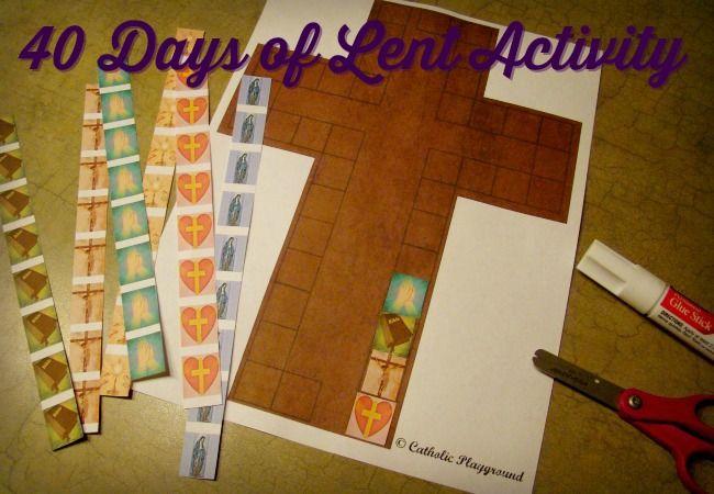 40 Days of Lent Cross |