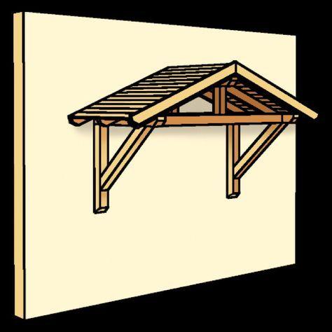 Holz-Vordach SKANHOLZ Stralsund für Haustüren Satteldach - Trockenen Fußes vor der Haustür nach dem Schlüssel suchen