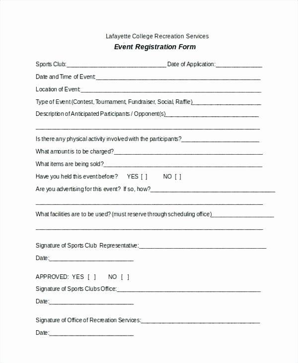 Sports Registration Forms Template Elegant Vendor Registration Player Form Template Basketball Wo Registration Form Online Registration Form Event Registration