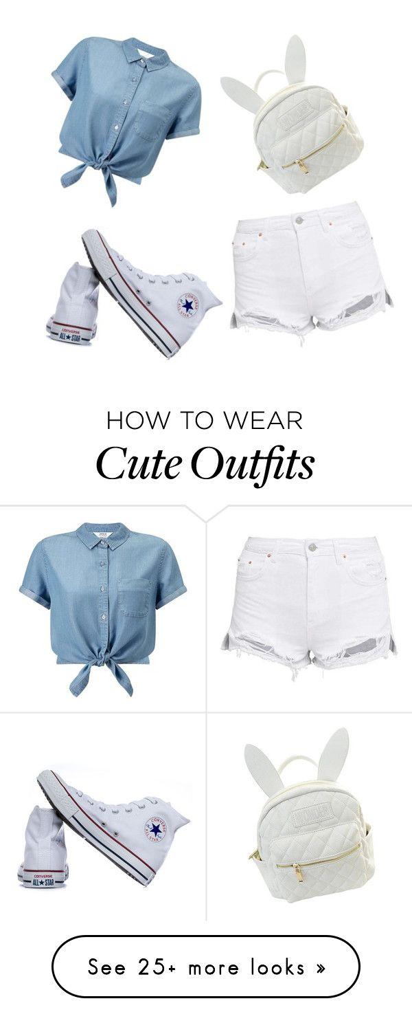 Camisa de jean,short blanco y zapatillas blancas