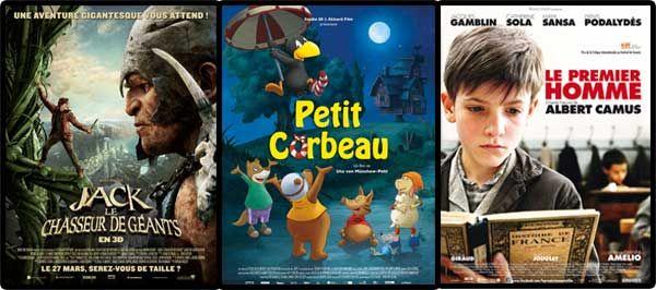 """> Nouvel article publié dans la rubrique """"CINEMA/VIDEO"""" sur www.enfant.net - Mercredi, c'est ciné. Nouveaux films sortis cette semaine : Jack le chasseur de géants, Petit Corbeau, Le Premier homme."""