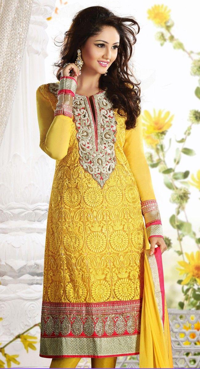 Flamboyant Yellow Salwar Kameez $207.00
