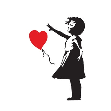 Banksy Balloon Girl Sticker now featured on Fab.