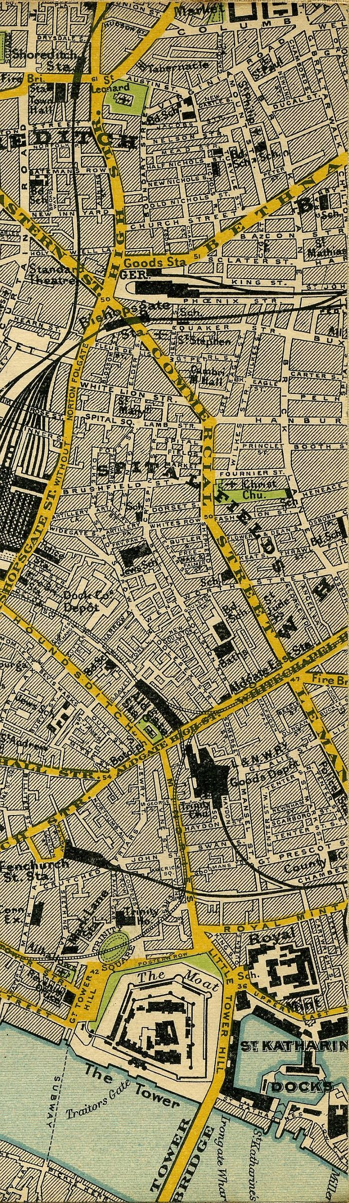 Stanfordu0027s Map Of Central London 1897 798