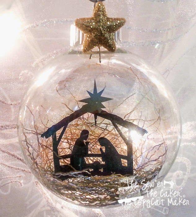 DIY Vinyl Christmas Ornaments                                                                                                                                                      More