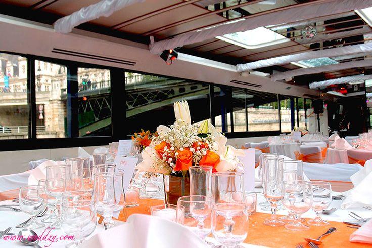 Décoration de table sur le thème orange
