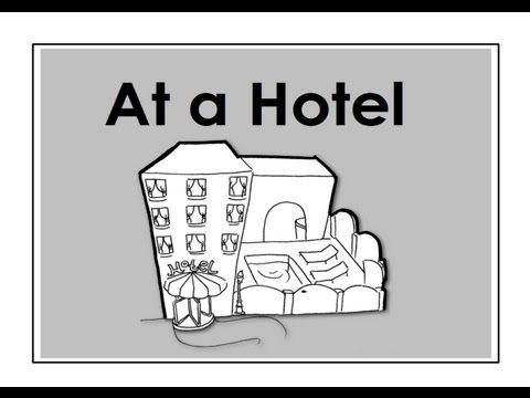At a Hotel. Easy English Conversation Practice. -         Repinned by Chesapeake College Adult Ed. We offer free classes on the Eastern Shore of MD to help you earn your GED - H.S. Diploma or Learn English (ESL) .   For GED classes contact Danielle Thomas 410-829-6043 dthomas@chesapeake.edu  For ESL classes contact Karen Luceti - 410-443-1163  Kluceti@chesapeake.edu .  www.chesapeake.edu