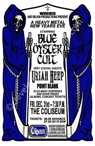 Blue Oyster Cult / Uriah Heep 1978 Cleveland Concert Poster