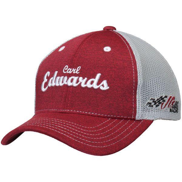 Carl Edwards Joe Gibbs Racing Team Collection Women's Vintage Trucker Adjustable Hat - Heathered Red/Gray - $13.99