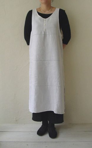 Linnet sewing pattern. Apron dress. Another pinner:  I love the simpleness of this dress & apron.