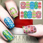 Cute Christmas Cartoon Transfer Nail Sticker Manicure Nail …